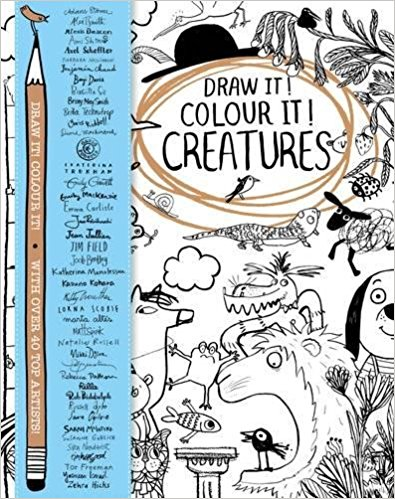 Draw it Colour it Creatures Childrens Books I Top 20 Activity Books for Children I Dublin Family Programme I What to do with kids in Dublin I Discover Dublin's Playful Side
